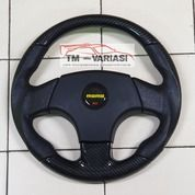 Stir Racing Import Momo 14 Inchi Hitam Kombinasi Carbon (28638143) di Kota Jakarta Pusat