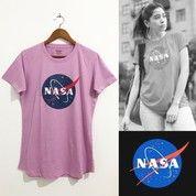 NASA X H&M WOMEN LOGO T-SHIRT (PINK) (28668055) di Kota Jakarta Barat