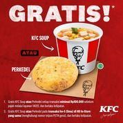 KFC Promo Gratis KFC Soup atau Perkedel buat kamu yang mau Home Delivery KFC* (28680083) di Kota Jakarta Selatan