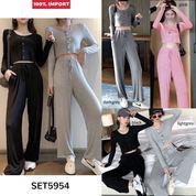 Casual Set Crop Top + Long Pants (28681551) di Kota Jakarta Utara