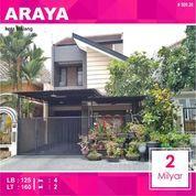 Rumah 2 Lantai Luas 160 Di PBI Araya Kota Malang _ 509.20 (28696743) di Kota Malang