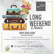 Grand Whiz Poins Long Week End Deals IDR 500.000 net / oo / ight inclusive Breakfast for 2 persons (28698595) di Kota Jakarta Selatan