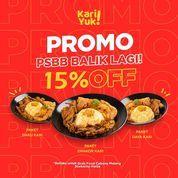 KARIYUK Malang PROMO di GRABFOOD 15% semua menu (28713671) di Kota Malang