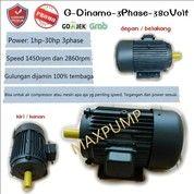 Dinamo Elektro Motor MAXPUMP 18.5Kw 25Hp 3Phase 4pole Dynamo Listrik (28714831) di Kota Jakarta Utara