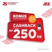 ACE Hardware Bonus Cashback Rp. 250 Rb (28716891) di Kota Jakarta Selatan