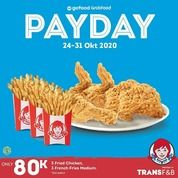 Wendy's Promo Payday Only 80k! (28729555) di Kota Jakarta Selatan