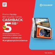 CODASHOP CASHBACK Rp 5,000 untuk pembelian Game Favorite-mu di Codashop pakai LinkAja! (28737979) di Kota Jakarta Selatan