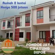 Rumah 2 Lantai Harga 500 Jutaan Dekat Stasiun Citayam Cipayung Depok (28813135) di Kota Depok