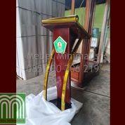Best Produk Podium Stainless Gold Atau Mimbar Minimalis Modern Mewah Kayu Jati Desain Terbaru (28819251) di Kota Palu