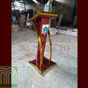 Contoh Podium Pidato Produk Mebel Jepara Atau Model Mimbar Pidato Minimalis Logo DKI Jakarta (28820211) di Kab. Kep. Seribu