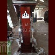 Mimbar Minimalis Stainless Asli Furniture Jepara Atau Podium Stainless Steel Logo TRISAKTI Jakarta (28820227) di Kab. Bandung Barat
