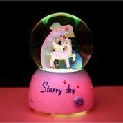 Bola Kristal Unicorn Snowball Kotak Musik Bola Kristal +Salju +Lampu (28909447) di Kota Jakarta Utara