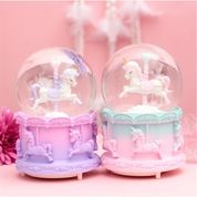Bola Kristal Berputar Unicorn Snowball Kotak Musik Bola Kristal +Salju (28909511) di Kota Jakarta Utara