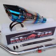 Knalpot Racing Xabre, Pulsar, Byson, Megapro<New Vixion R11-Blu / o