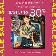 Zalora X Berrybenka MEGA FASHION WEEK!! Save up to 80% + extra 24% OFF (28958273) di Kota Jakarta Selatan