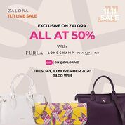 Zalora 11.11 Sale NANNINI, LONGCHAMP, DAN FURLA ALL AT 50% ON ZALORA (28958348) di Kota Jakarta Pusat