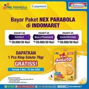 Dapatkan 1 pcs KLOP Saluto 76 g GRATIS setiap bayar Paket NEX Parabola di Indomaret (28958379) di Kota Jakarta Selatan