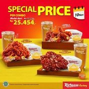 Richeese Special Price Combo 1 Fire Chicken, Combo Mala Chicken, Combo 4 Fire Wings, & Tiwsted Fries (28958660) di Kota Jakarta Selatan