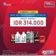 Shop And Drive Paket HEMAT Hingga Rp. 314.000, untuk Penggantian 4 liter Oli + Engine Cleaner + Filt (28963063) di Kota Jakarta Selatan