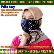 Masker Premium Kain 2 Layer Big Size BerMotif (28973580) di Kota Jakarta Timur