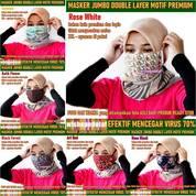 Masker Motif Kain Premium Jumbo Anti Virus (28973593) di Kota Jakarta Timur