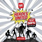 Toys City Heroes United Disc. Up To 50% (29018631) di Kota Jakarta Selatan