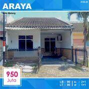 Rumah 2 Lantai Luas 90 Di PBI Araya Kota Malang _ 532.20 (29029743) di Kota Malang