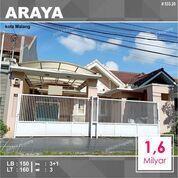 Rumah 2 Lantai Luas 160 Di PBI Araya Kota Malang _ 533.20 (29029763) di Kota Malang