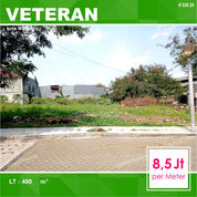 Tanah Kavling Hook Luas 400 Samping Mall Matos Veteran Kota Malang _ 538.20 (29056956) di Kota Malang