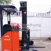 Forklift Linde Elektrik Baterai Reach Truck 1.4 Ton B (29072286) di Kota Jakarta Utara