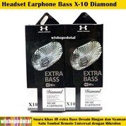X-10 Diamond Bass HQ Earphone Headset (29137489) di Kota Jakarta Timur