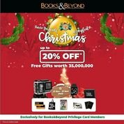 Books & Beyond Enjoy our Christmas festive offers of discount up to 20% (29162493) di Kota Jakarta Selatan
