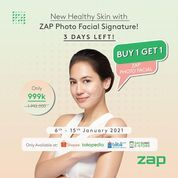 ZAP Clinic New Healthy Skin with ZAP Photo Facial Signature Buy 1 Get 1 Photo Facial Glow 999rb (29305546) di Kota Jakarta Selatan