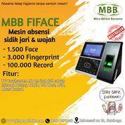 Mesin Absensi Wajah Dan Fingerprint Touch Screen Fitur ADMS MBB FIFACE (29313518) di Kota Surabaya