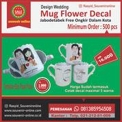 Mug Flower Design Wedding Printing Decal (29332277) di Kota Jakarta Timur