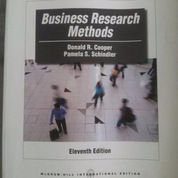 Business Research Methods Eleventh, 11th Edition By Donald Cooper And Pamela Schindler