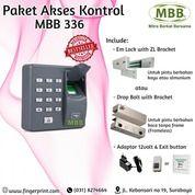 Paket Fullset Akses Door Lock Fingerprint Dan Card Rfid MBB 336 (29377513) di Kota Surabaya