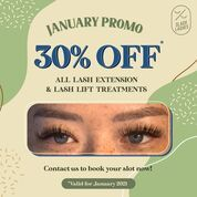 Slash Lashes 30% off eyelash extension and keratin lash lift and tint on January (29396544) di Kota Jakarta Selatan
