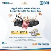 Cinema XXI Promo dari Bank BRI. Beli 1 Gratis 1 Tiket plus dapet paket combo (29405076) di Kota Jakarta Selatan