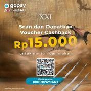 Cinema XXI lebih HEMAT dan ASIK pakai @gopayindonesia CASHBACK Rp15.000 (29405082) di Kota Jakarta Selatan