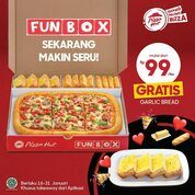 Pizza Hut + 3 topping tadinya cuman 99rb, dan sekarang dapet garlic bread lagi gratis (29405158) di Kota Jakarta Selatan