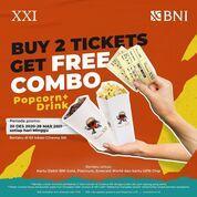 Cinema XXI Minggu saatnya promo dari kartu BNI Debit.Beli 2 tiket nonton langsung dapat Popcorn & Mi (29422215) di Kota Jakarta Selatan