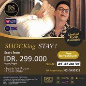 Hotel Royal Singosari Cendana *Rp 299.000,-* UNTUK: Superior Room Only & FREE refreshment (29422813) di Kota Jakarta Selatan