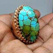 Natural Turquoise Hubei Jumbo Ring Perak Crom Swasa (29427569) di Kab. Garut