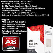 AMD A8-7600 3.8ghz+Mobo MSI+Memory 8GB 2133mhz+Bonus HDD,Printer,SC (29435296) di Kota Bandung