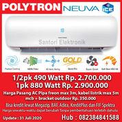 AC Polytron Neuva ICE 1/2pk & 1pk Garansi Resmi Kompresor 5 Tahun (29501734) di Kota Pekanbaru