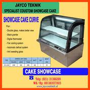 Showcase Cake Display Kue Kaca Curve (29502078) di Kota Bekasi