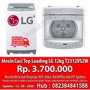 Mesin Cuci Otomatis Top Loading LG 12kg T2312VS2W Garansi Resmi (29522660) di Kota Pekanbaru