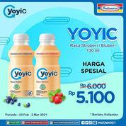 Indomaret Harga spesial Rp5.100 YOYIC Rasa Stroberi / Blueberi 130 ml (29622260) di Kota Jakarta Selatan