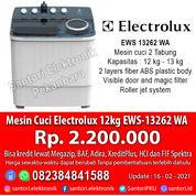 Mesin Cuci Electrolux 12kg EWS-13262 WA Garansi Resmi (29634425) di Kota Pekanbaru